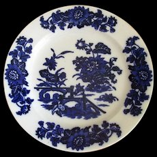 """English Flow Blue Pottery """"Yedo"""" 10 1/2"""" Plate"""
