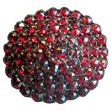Gold-Filled Victorian Tiered Garnet Brooch