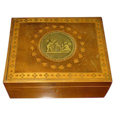 English Tunbridge Sewing Box with Marquetry Inlay