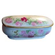 Hand-Painted Limoges China Vanity Jar