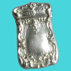 Vintage Sterling Silver Vesta Match Container Safe with Gargoyle