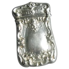 Vintage Sterling Silver Vesta Match Container Safe with Gargoyle