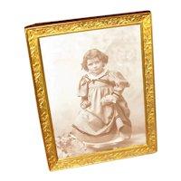Vintage Brass Tabletop Picture Frame