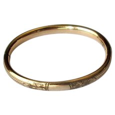 Small Antique Gold-Filled Bangle Bracelet
