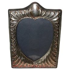 English Tabletop Picture Frame with Sterling Silver Front