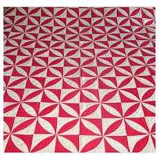 "Vintage Patchwork ""Lafayette's Orange Peel"" Quilt"