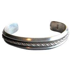 Vintage Mexican Silver Cuff Bracelet
