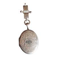 Antique Victorian Sterling Silver Engraved Locket