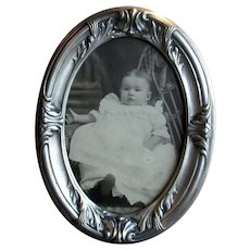 Arts & Crafts Silver-Plate Picture Frame