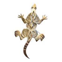 Fredrick Chavez Native American Sterling Horned Toad Pin