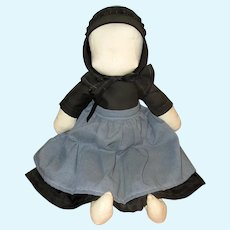 Amish Hand-made Cloth Doll with Cap and Apron
