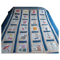 Vintage Applique Alphabet Quilt