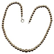 "16"" Graduated Gold-Filled Bead Necklace"
