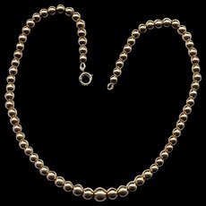 """16"""" Graduated Gold-Filled Bead Necklace"""