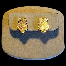 Early 20th Century Gold-Filled Screw-Back Earrings