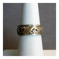 Fancy Ladies' 14K Band in Yellow and White Gold