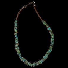 Native American Turquoise and Shell Nugget Necklace