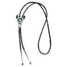 Native American Bolo Tie with Thunderbird
