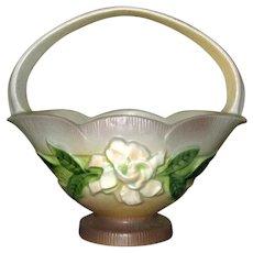 """Roseville Art Pottery 8"""" Gardenia Basket"""