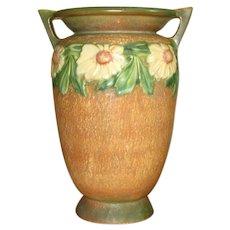 """Roseville Art Pottery 12"""" Dahlrose Vase"""
