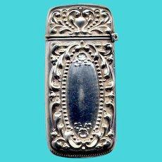 Sterling Silver Vest-Pocket Match Safe
