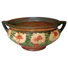 "Roseville Art Pottery Brown ""Dahlrose"" Bowl"