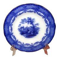 Flow Blue Pottery Soup Bowl