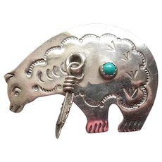 Native American Medicine Bear Pin