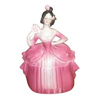 Germany Pretty Lady Porcelain Dresser Doll Trinket Box