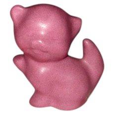 Van Briggle Art Pottery Rose Kitten Figure
