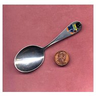 Webster Sterling Baby Spoon with Enameled Bear