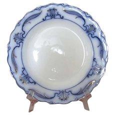 """10"""" Grindley Flow Blue """"Lotus"""" Plate"""