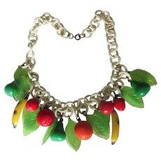 Vintage Celluloid Fruit Choker Necklace
