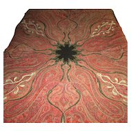 "Early 19th Century Indian Pieced Wool ""Paisley"" Tapestry"