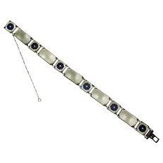 Norway Sterling & Enamel D-A Link Bracelet