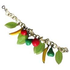 Vintage Celluloid Fruit Bracelet