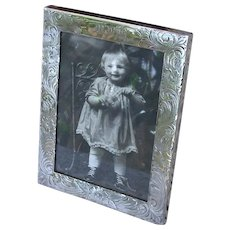 Antique Sterling Silver Tabletop Picture Frame