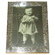 Engraved Sterling Silver Table-Top Picture Frame
