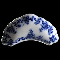 "English Flow Blue ""Martha"" Bone Dish"