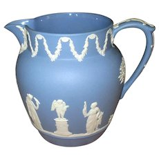 Blue And White Vintage Wedgwood Pottery Pitcher