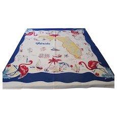 Vintage Florida Map Tablecloth