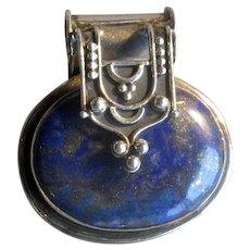 Sterling Silver & Lapis Lazuli Pendant