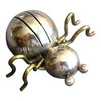 Mexican Silver Modernist Bug Pin