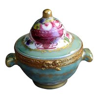 Hand-Decorated Limoges China Sugar Bowl Box