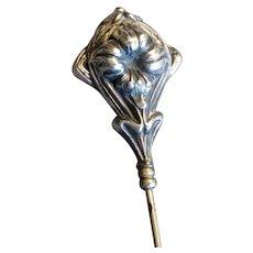 Sterling Silver Art Nouveau Hat Pin