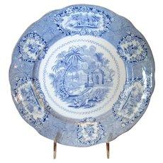 English Blue & White Transfer-Ware Plate