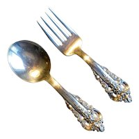 "Wallace Sterling ""Grand Baroque"" Baby Flatware Set"