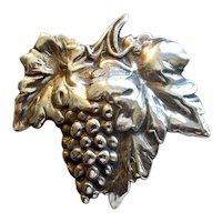 Vintage Sterling Grape Cluster Pin