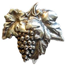 Vintage Sterling Grape Cluster Pin