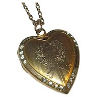 "Vintage Gold-Filled Locket with 19"" Chain"